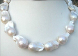 Wholesale White Pearls Buy - Best Buy Pearls Jewelry CLASSIC RAHE HUGE 22-25MM SOUTH SEA WHITE BAROQUE PEARLS NECKLACE 18INCHES 14K