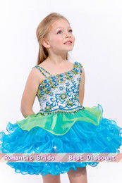 2020 migliori vestiti da ragazze La più venduta 2018 Sparking Beaded Little Kids Mini One-Shoulder Girl Pageant Dress Flower Girl Dresses Toddlers13 sconti migliori vestiti da ragazze