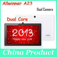 "dhl geben verschiffen zolltablette pc frei großhandel-Doppelkern A23 Tablette PC Android 4.2 7 ""kapazitiver Schirm 512M / 4G Doppelkamera WIFI Freies Verschiffen"