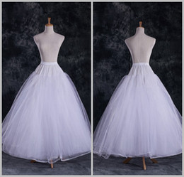 lined petticoat Canada - DL09757 Wholesale Cheap A Line Tulle Bridal Petticoats Wedding Underskirt Crinolines Bridal Accessory with full lining