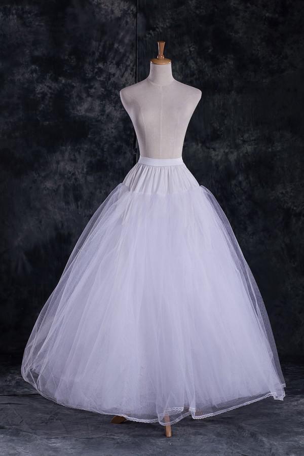 Tam astarlı DL09757 Toptan Ucuz A Hattı Tül Gelin Petticoats Düğün Jüpon crinolines Gelin Aksesuar