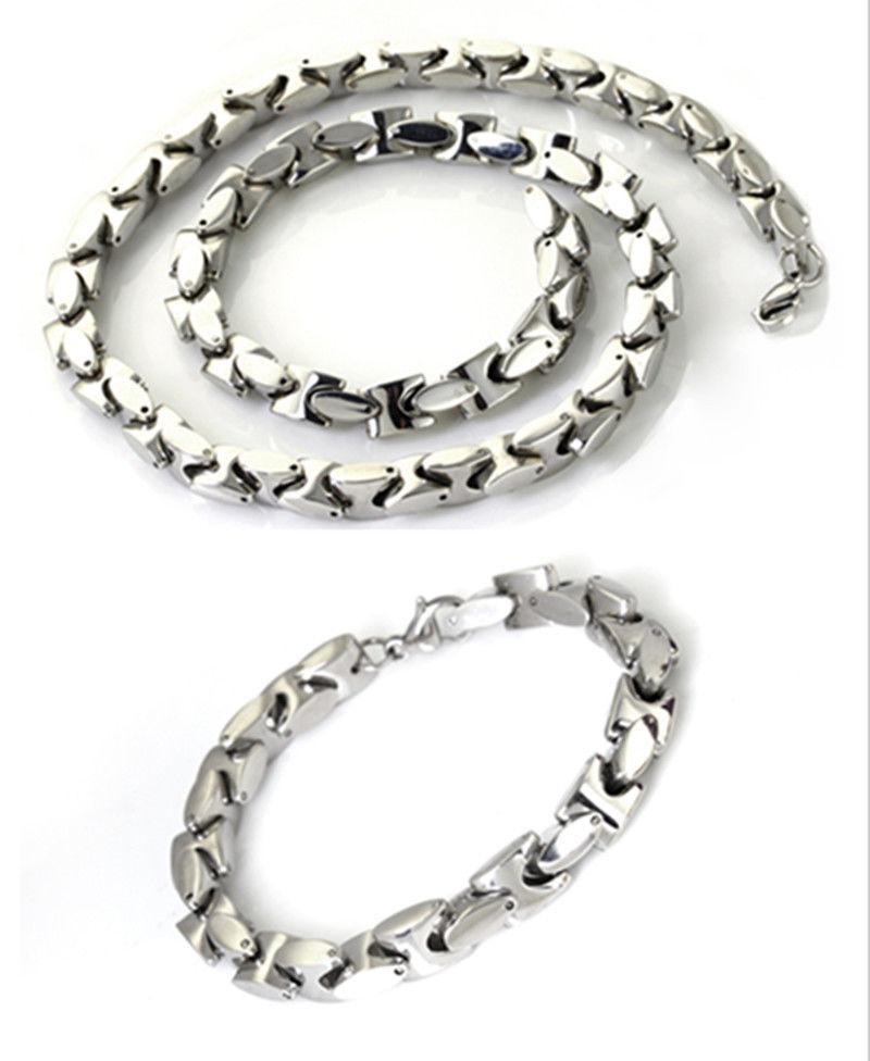 Collar de cadena de clavícula pesada vendido superior de los 9MM Joyería de acero inoxidable 316L fijada para la joyería de los hombres de XMAS