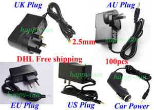 High Quality Universal 2.5mm Power Adapter AC Charger 5V 2A for Android Tablet PC UK   AU   EU   US   Car charger 100pcs DHL free shipping