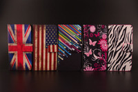 Wholesale Iphone 5g Case Design - Fashion Design Flowers PU Case Flip Leather Wallet Case Cover Stand with Card Slot Holder for iPhone 4S 5G 5C 5pcs Free Shipping