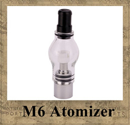 Wholesale Dry Herb Atomizer For Ego - M6 Atomizer 4.0ml Clearomizer Glass Globe Tank Dry Herb Vaporizer Anti-oxidation for eGo e-cig Electronic Cigarette eGo-T