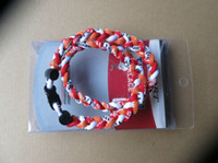 Wholesale Gt Box - Wholesale - Sports baseball Titanium Healthy GT Tornado 3 ropes necklace , 3 braid rope necklaces ,3 Weave necklace With retail box