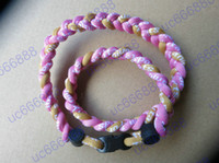 Wholesale Titanium Weave Necklaces - Wholesale -new 2014 free DHL 3 rope Titanium necklace GT 3 ropes Tornado necklace , 3 braid rope necklaces ,3 Weave necklace