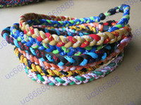 Wholesale Braided Sports Necklaces - Wholesale - Wholesale - - Sports baseball Titanium Healthy GT Tornado 3 ropes necklace , 3 braid rope necklaces ,3 Weave necklace