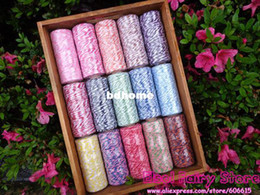 Wholesale Cotton Twine - Wholesale - NEW! COTTON BAKER'S TWINE for Crafting, Packing String,15 Colors, Double Color 8ply Cotton Twine 135m pc 15pcs lot