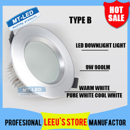 Wholesale 36w Led Downlight Lamp - X20 DHL High power Led ceiling lamp 9W 12W 15W 21W 27W 36W Led Bulb 85-265V LED lighting led Downlight spotlight down light with led drive
