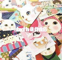 Wholesale Free Style Postcards - Wholesale - E128 Free Shipping 63 Styles set Cute Jetoy Choo Choo Cat Postcards Collection Gift 146mm*100mm Decoration Pussy Post card Set