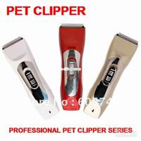 elektrikli şarj edilebilir evcil hayvan kuaförü toptan satış-Toptan-Elektrikli Şarj Edilebilir kablosuz Pet Köpek Kedi Tıraş Razor Saç Bakım Clipper, ücretsiz kargo