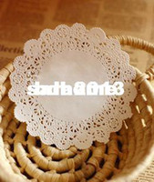Wholesale Lace Cut Out Paper - Wholesale - 9.5'' flower shape cut-out lace white cake decor paper mat paper doily