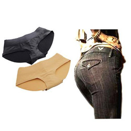 Wholesale Padded Hip Panties - S5Q Women Sexy Padded Seamless Simulation Butt Hip Enhancer Shaper Panties Underwear Hot AAACGE