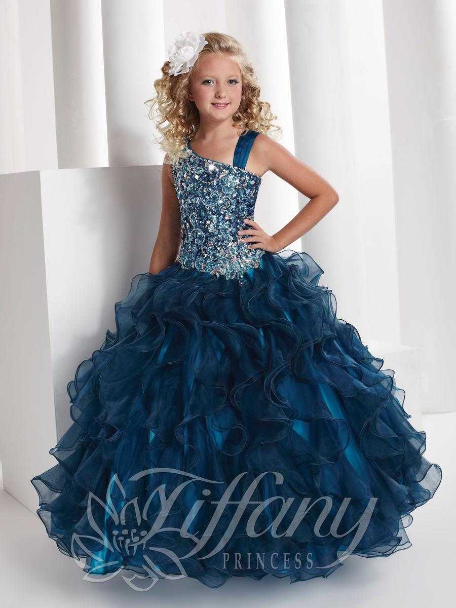 2014 New Arrivals Princess Ball Gown  Beading Long Length Girl's Pageant Dresses