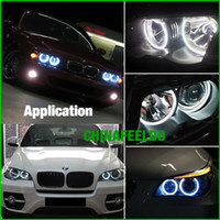 Wholesale Ccfl For Cars - Duper bright for Car CCFL LED Angel Eyes headlights for BMW X5(E53) angel eyes kits