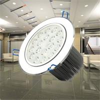 Wholesale Downlight Fixtures - 18W LED Ceiling Light LED Downlight AC85-265V Silver White Cool White Warm White Spotlight Lamp Recessed Lighting Fixture 20pcs lot Freeship