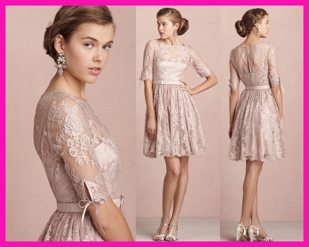 2014 pink beauty lace long sleeve short junior bridesmaid dresses 2014 pink beauty lace long sleeve short junior bridesmaid dresses girl party dress b2200 jr bridesmaid dress silk chiffon bridesmaid dresses from store005 ombrellifo Gallery