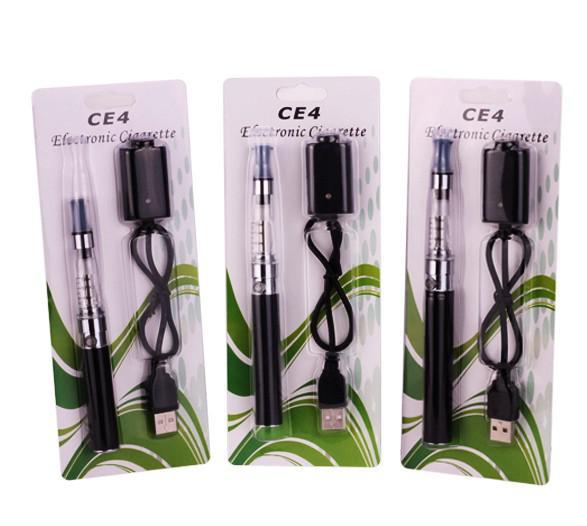 Ego CE4 Starter Kit EGO Clear Cartomizer Blister Card Packing Colorful Battery 650MAH 900MAH 1100MAH Fabrikspris
