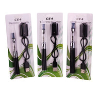 Wholesale Ego Ce4 Blister Card - eGo ce4 starter kit Ego Clear Cartomizer blister card packing colourful battery 650mah 900mah 1100mah factory price