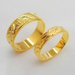 Gold Plated Dragon Rings Couple Rings Couple Rings Wedding Rings