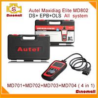 Wholesale Data Stream Reader - Original Autel Maxidiag Elite MD802 Pro All system DS Model (MD701+MD702+MD703+MD704) MD 802 Full System DS+EPB+OLS+Data Stream