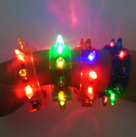 Wholesale Light Up Cups Wholesale - LED bracelet World Cup fans 24pcs light up flashing bracelet Blinking Spike bracelet for par toy