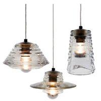 Wholesale Glass Bowl Pendant Light - AC110V 220-230V Tom Dixon pressed glass BOWL LENS TUBE Crystal glass pendant lamps indoor lighting