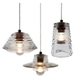 2019 12v коммерческое освещение AC110V / 220-230V Том Диксон нажал стеклянную чашу / объектив / трубка хрустальное стекло подвесные светильники внутреннее освещение