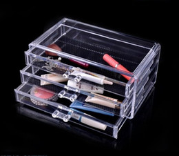 Wholesale Crystal Jewelry Stand - US Stock-Fast Shipping 1pc Crystal Acrylic Makeup Organizer Jewelry Display Box Necklace Display Stand SF-1005-1