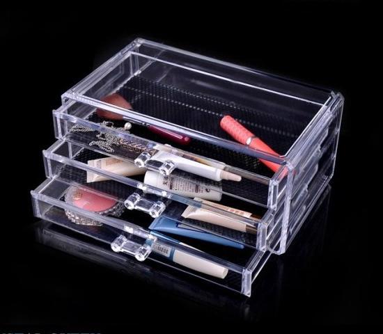 NOUS Stock-Fast Shipping 1 pc Cristal Acrylique Maquillage Organisateur Présentoir De Bijoux Collier Présentoir De Collier SF-1005-1