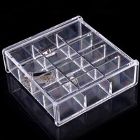 Wholesale Bracelet Organizer Box - Acrylic Jewelry Ring Earrings Necklace Organizer 12 Grids SF-1026 free shipping Makeup Box Case