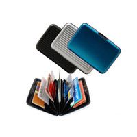 Wholesale 240pcs Aluminum wallet security Credit card wallets colors mixed card cases card holder with box