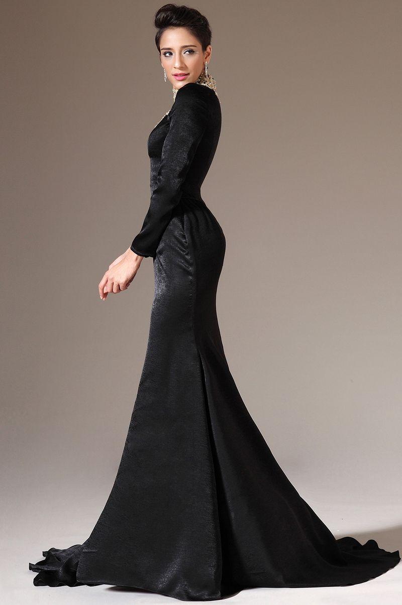 Elegant Black Long Sleeve Dress