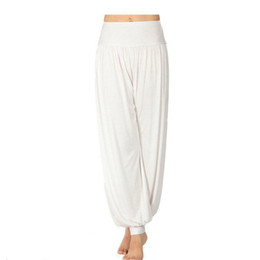 S5Q Women Lady Harem Yoga Cotton Comfy Long Pants Belly Dance Boho Wide Trousers AAABOF