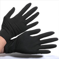 Wholesale Disposable Latex Gloves Tattoo - 2016 hot sale Tattoo Supply Tattoo Artist Trends Latex&Nitrile Black Tattoo Gloves Powder Free Disposable Gloves