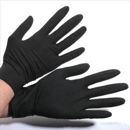 Wholesale Disposable Latex Gloves Tattoo - 2016 hot sale Tattoo Supply Tattoo Artist Trends Latex&Nitrile Black Tattoo Gloves Powder Free Disposable Gloves
