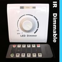 led ir interrupteur à distance achat en gros de-Interrupteur gradateur IR 110V - 240V avec pour lumières Led infrarouge Télécommande Ajustez la lumière vers le haut et le bas gradateur Prix de gros de haute qualité