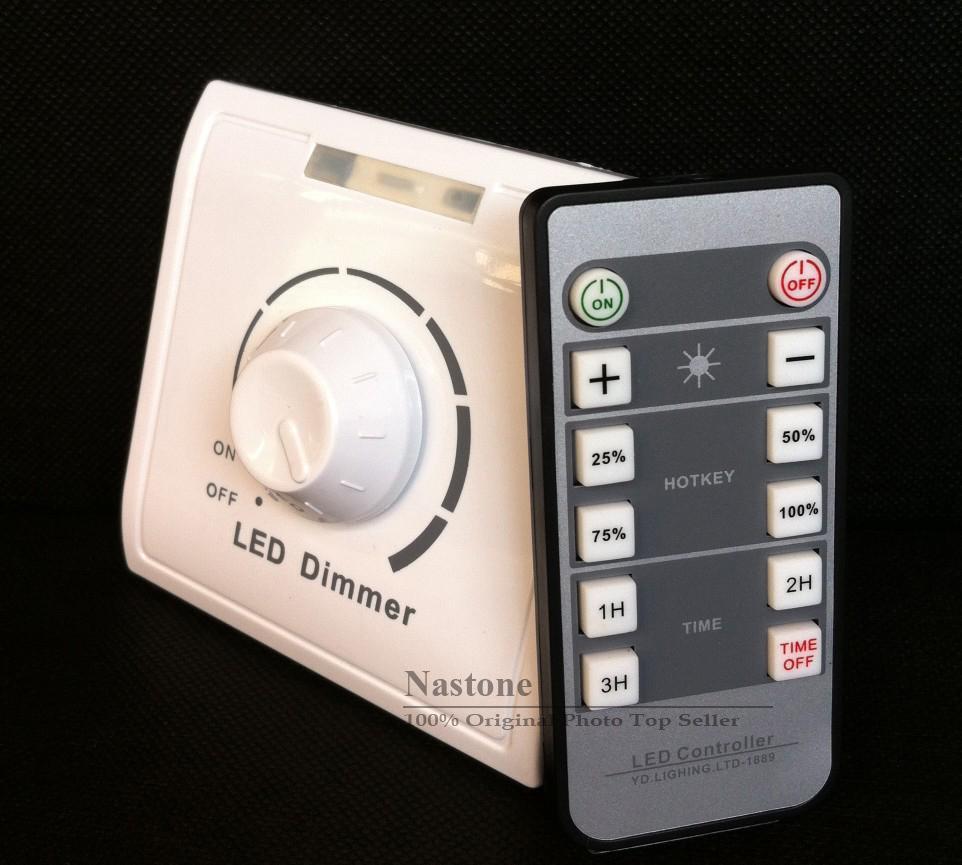 IR Dimmer switch 110V - 240V with for Led Lights الأشعة تحت الحمراء التحكم عن بعد ضبط الضوء صعودا وهبوطا باهتة التبديل جودة عالية سعر الجملة