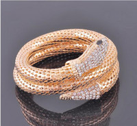 Wholesale Drills Retro Bracelets - Special Price Snake Bracelet Fashion Selfdom Bracelets With Drill Retro Banger