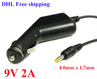 """Wholesale Charger Android Epad - High Quality 100pcs DC 9V 2A 4.0mm x 1.7mm Car Charger Adapter Converter For 7"""" 10"""" android Tablet PC MID ePad FlytoucH DHL Free shipping"""