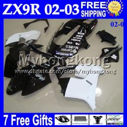 Custom zx9r fairings online shopping - 7gifts Custom For KAWASAKI NEW Black white NINJA ZX9R ZX R MY1804 R ZX R BLACK WHITE NEW Fairing Kit
