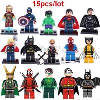 juguetes de ladrillo al por mayor-Regalos de Navidad Super Hero Figuras Juguetes The Avengers Juguetes Big Hulk Aficiones Figuras de Acción Clásicas DIY Bloques de Construcción Ladrillos Minifiguras
