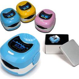 Oximeter Fingertip Canada - NEW CONTEC Finger Cute Pulse Oximeter Oxygen SPO2 Monitor for Children Kids CMS50QB,blue,pink,yellow
