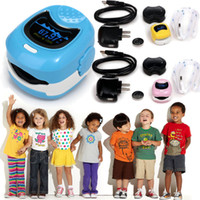 Wholesale Oximeter For Children - NEW CONTEC Finger Cute Pulse Oximeter Oxygen SPO2 Monitor for Children Kids CMS50QB