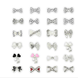 Wholesale Dangle Jewelry Nail Art - Nail Art Rhinestone100pcs lot 168 optional Nail Tips Dangle Jewelry Nail Art Decoration 3d Nail Bows