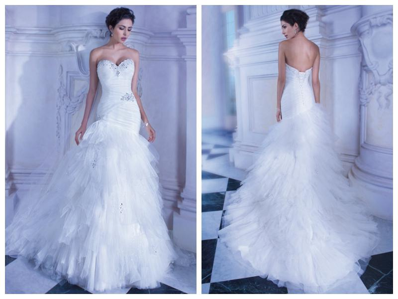 2014 Free Custom Made Wedding Dresses With Sheer