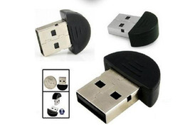 Wholesale tiny wireless bluetooth - 50pcs lot Tiny USB 2.0 Bluetooth adapter V2.0 EDR usb bluetooth Dongle Wireless Adapter .