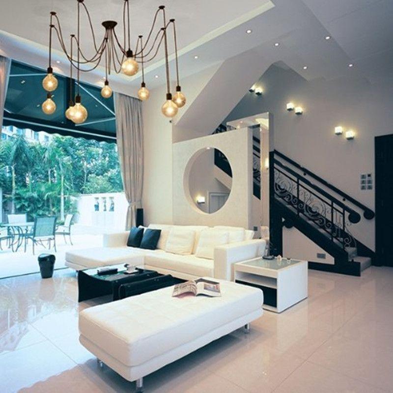 Simple Style Edison Chandelier Light Pendant Ceiling Bulb Lamp 10 Lights Dining Living Bedroom Include bulb