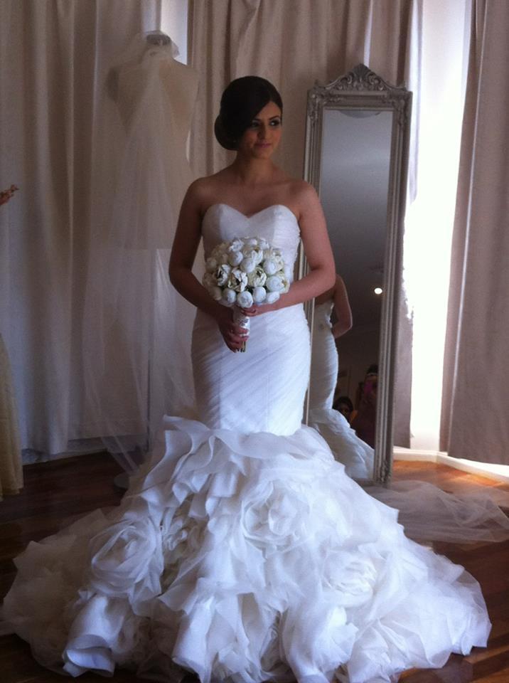 Cheap High Quality !Amazing 2014 Exquisite Mermaid Organza-Satin Strapless Norma BellaNaija Wedding Dresses